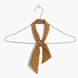 [NWT] Madewell Silk Skinny Scarf in Gold Spot